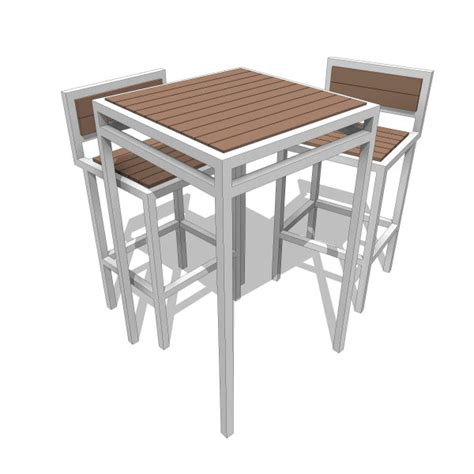 modern outdoor talt 6 table talt collection bar height table 10052 2 00 revit families modern revit furniture models