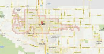 lancaster california map and lancaster california