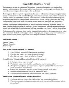 position paper template writing a position paper