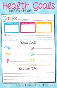 printable health goals tracker