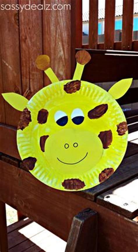 Giraffe Paper Plate Craft - zoo animal crafts on zoo crafts safari animal