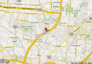 West Chester Ohio Map by Map Of Holiday Inn Express Cincinnati West Chester West