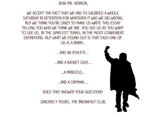 film quotes ending the breakfast club random pinterest breakfast club
