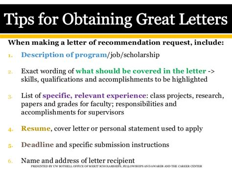 Letter Of Recommendation For Merit Scholarship Getting Great Letters Of Recommendation