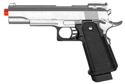 Airsoft Gun Pistol Metal galaxy g6 metal 1911 style airsoft pistol silver