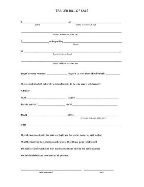 boat trailers for sale maine free maine trailer bill of sale form pdf template form