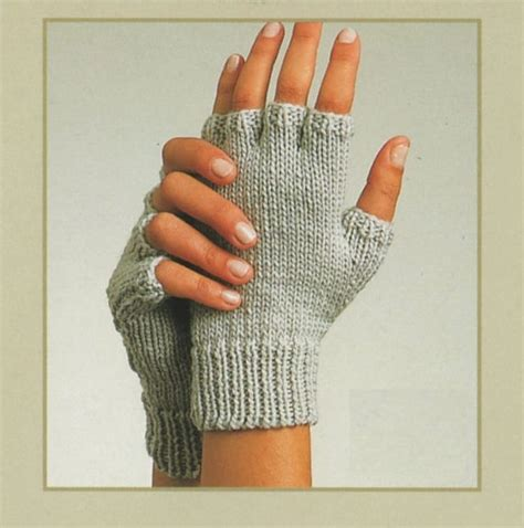 knitting pattern for gloves on two needles pdf knitting pattern gloves fingerless gloves and