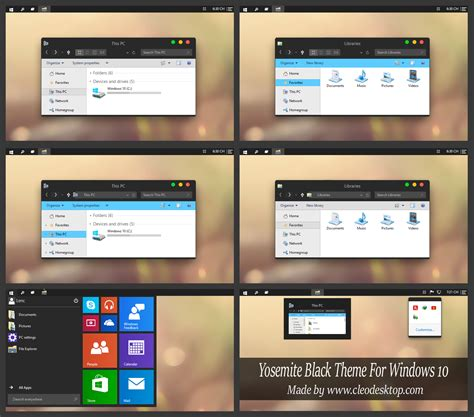 themes yosemite yosemite black theme windows 10 by cleodesktop on deviantart