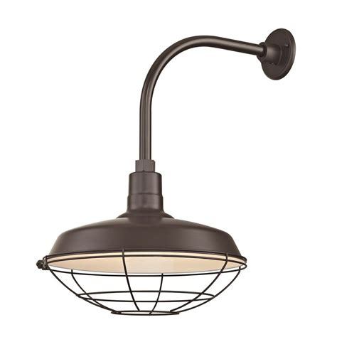 Gooseneck Outdoor Barn Light Bronze Outdoor Barn Wall Light With Gooseneck Arm And 16 Quot Cage Shade Bl Arml Bz Bl Sh16 Bz Bl