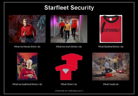 Red Shirt Star Trek Meme - redshirts what i really do
