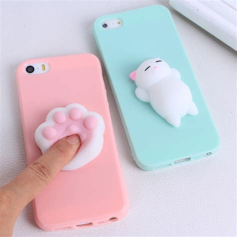 Casing Iphone 7 Squishy Cat Squeeze Soft Silicone soft silicone squishy cover for iphone 7 7 plus 3d animal squeeze anti stress toys for