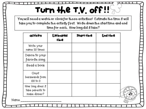 Homework Worksheets by Teachershq Homework