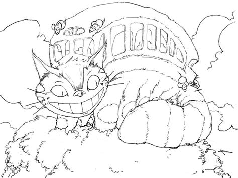 how to draw totoro cat bus
