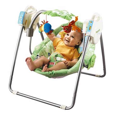 baby swing with lights and music fisher price rainforest jumperoo baby swing playmat etc ebay