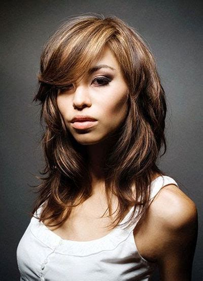 medium length hairstyles for thick hair and round faces 25 modern medium length haircuts with bangs layers for