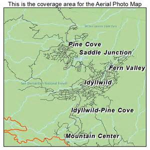 aerial photography map of idyllwild pine cove ca california