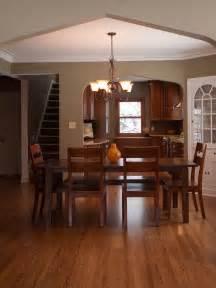 simple craftsman style dining room  wood furniture