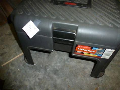 Step Stool Toolbox by Rubbermaid Plastic Step Stool Tool Box