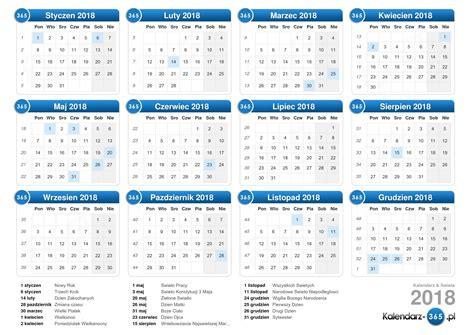 Pl Novac Kalend Na Rok 2018 Kalendarz 2018