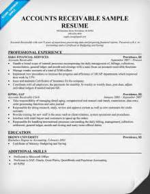 Sample Accounts Receivable Resume Accounts Receivable Resume Images