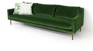 naples sofa emerald green velvet sofas by modshop