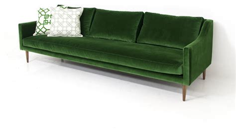 emerald green couch naples sofa emerald green velvet sofas by modshop