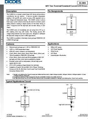 diodes incorporated al5809 diodes incorporated al5809 28 images osh park profile for lukez al5809 150p1 7 datasheet