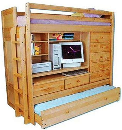 bunk bed paper patterns loft    trundle desk chest