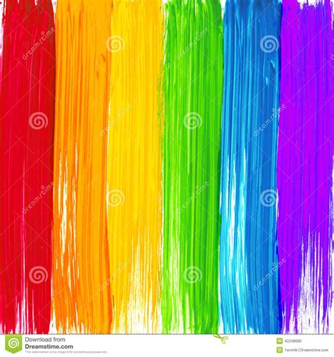 bright rainbow paint strokes background stock vector image 42248680