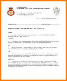 8  warning order template   park attendant