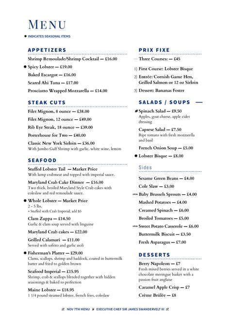 restaurant menu templates invoice sle template project