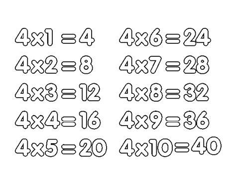 fotos tabla de multiplicar del 4 tabla de multiplicar del 4 www pixshark com images