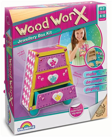craft kits for australia wood worx jewellery box craft kit at mighty ape