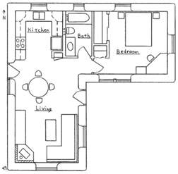 L Shaped Floor Plans by L Shaped House Plan