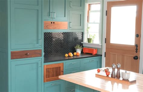 Diy Blue Kitchen Ideas Painted Kitchen Cabinet Ideas Freshome