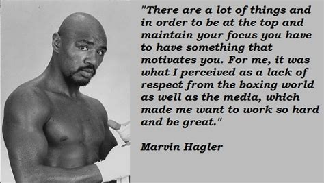 A L I V E Marvin Bag marvin hagler s quotes and not much quotationof