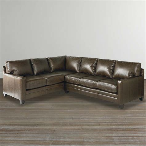 leather l sectional sofa cocoa custom leather l shaped sectional