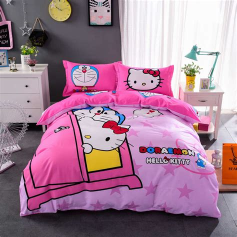 Bed Cover King Fata Doraemon Berkualitas hello bedspreads promotion shop for promotional hello bedspreads on aliexpress