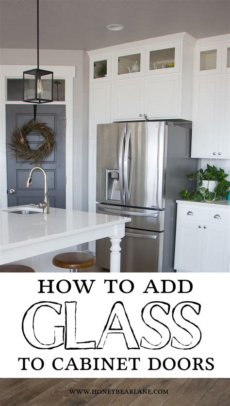 how to add glass to kitchen cabinet doors how to add glass to cabinet doors honeybear lane