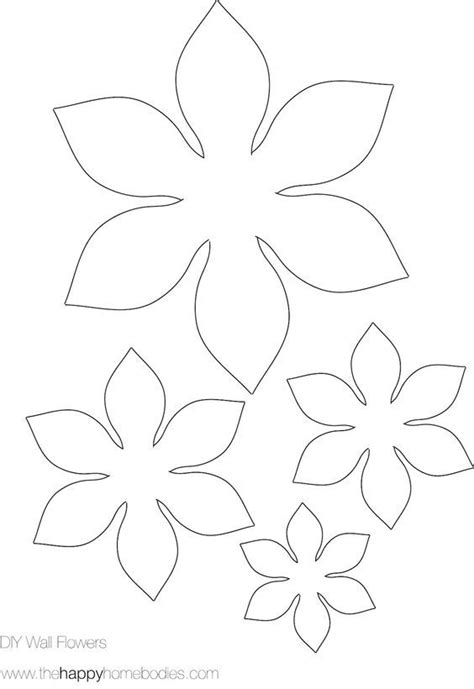 Free Flower Template Pinteres Large Paper Flower Template Cricut