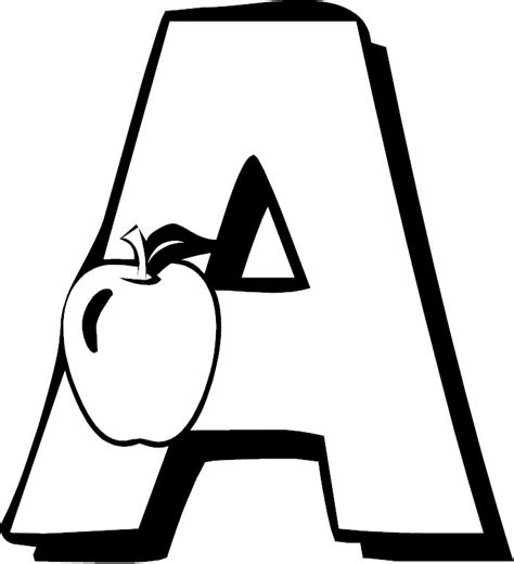 Letter A Alphabet Coloring Pages The Letter A Coloring Pages