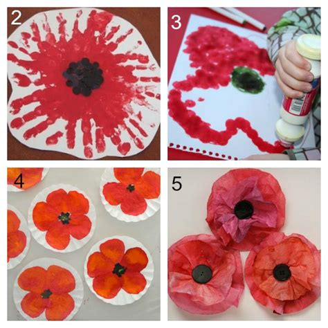 How To Make Poppies Out Of Tissue Paper - 11 simple poppy crafts for laughing learn