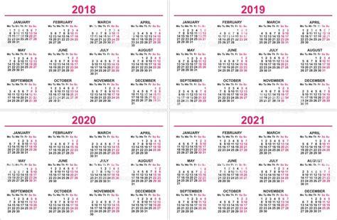 Peru Calendrier 2018 Set Wall Calendar 2018 2019 2020 2021 Grid Template Stock