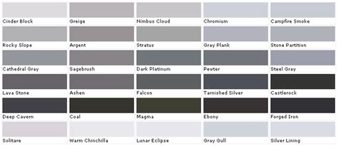 shades of grey color names carrie s design musings 50 shades of grey