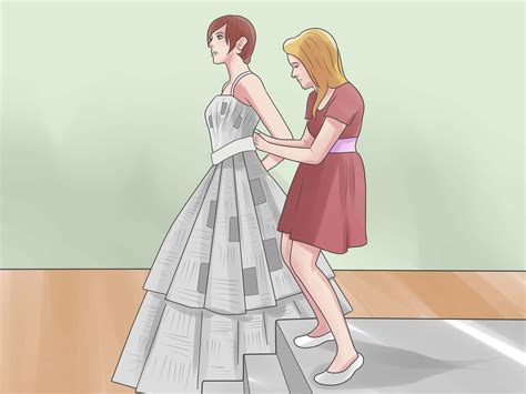 How To Make Paper Dress - 4 ways to make a paper dress wikihow