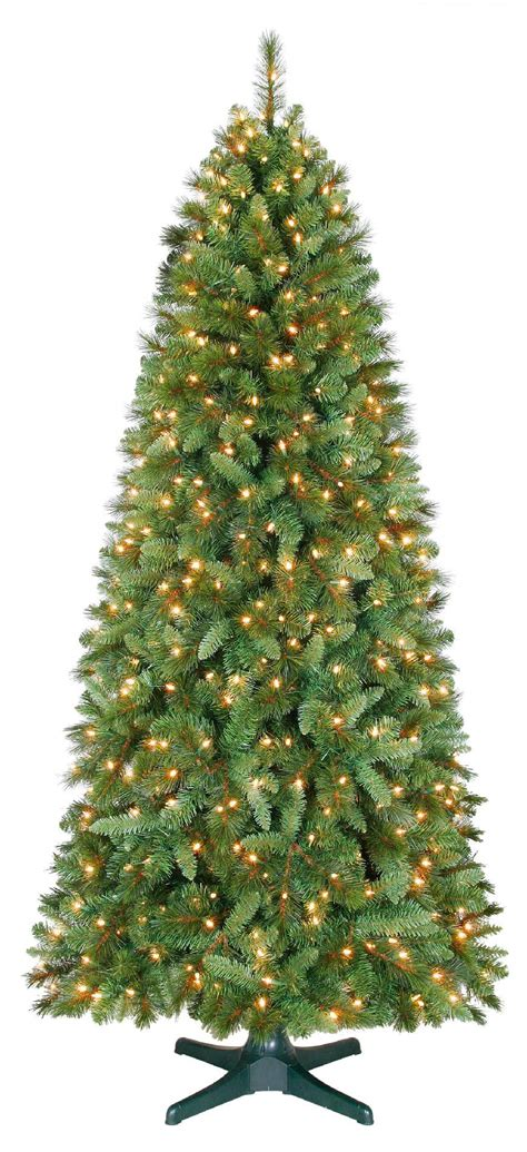 aspen pine flocked tree 4 green cedar pine tree with 100 clear lights with plastic pot and stand