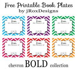 personalized your library with free printable chevron book