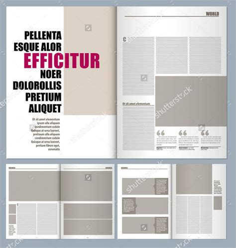 magazine layout template 16 free psd vector eps png