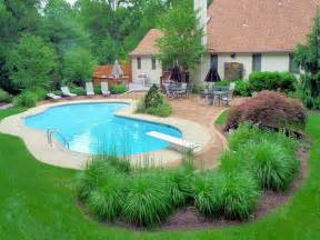 pool landscapes nice idea for inground pool landscaping the best