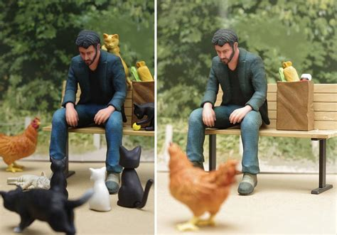 keanu bench bench sad keanu action figure stylefrizz photo gallery